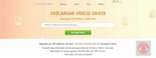 Freemake Video Downloader para descargar música de youtube