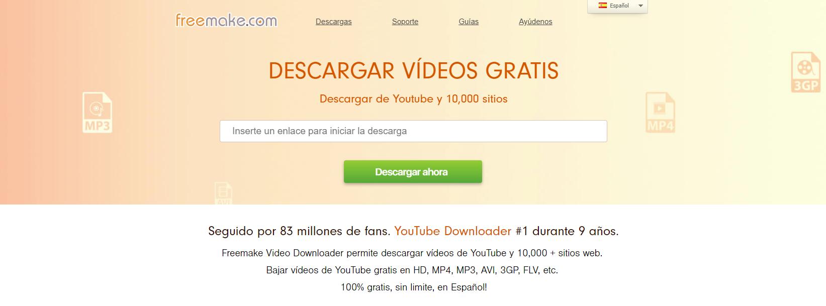 Freemake Video Downloader para descargar música de youtube