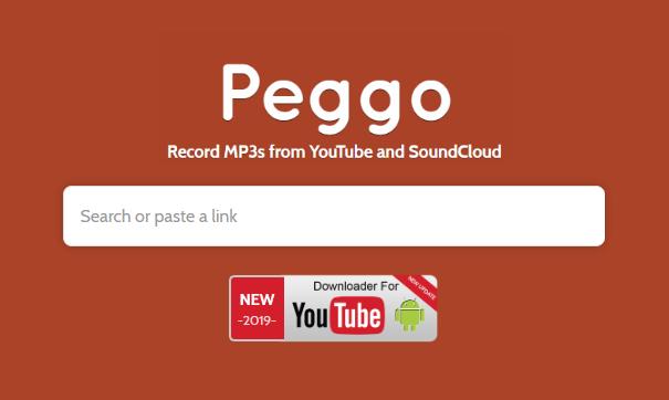 Peggo web de descarga de youtube