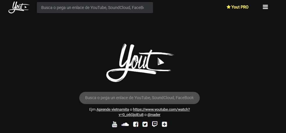 Yout descarga de música directamente de youtube