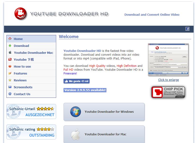 Youtube Downloader HD para bajarte música desde Youtube a tu computadora