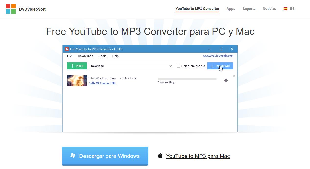 Free Youtube to Mp3 Converter conversor de videos de Youtube a Mp3