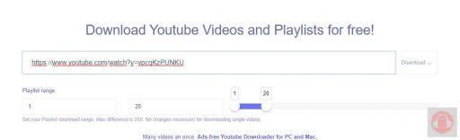 Ddownr Pegar link de lista youtube en Ddownr
