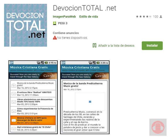 devocion total.net app de descarga música cristiana gratis