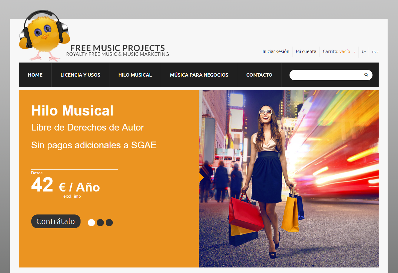 Free Music Projects, web para descargar música sin copyright