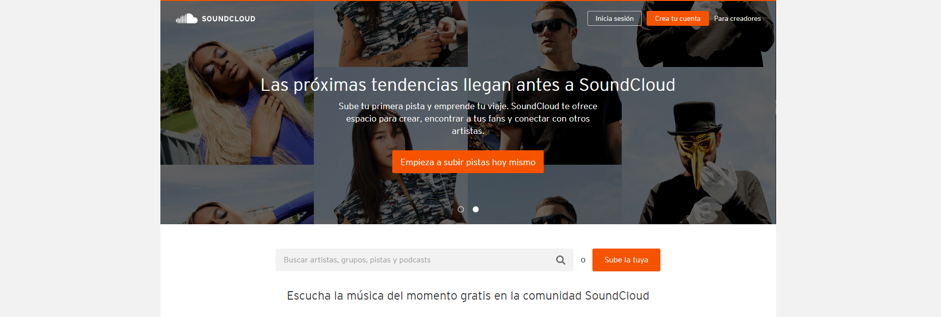 Soundcloud música sin copyright