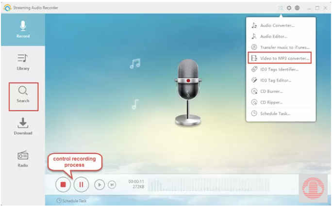 Steaming Audio Recorder Facebook