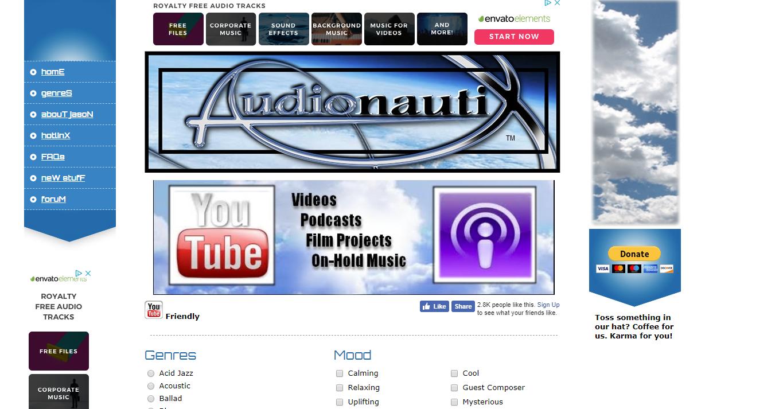 Audionautix plataforma de descarga de música libre de derechos