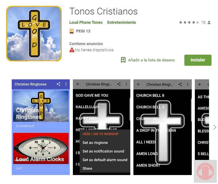 Tonos cristianos app de descarga de música cristiana