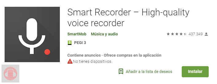 Smart Recorder HQVR para Deezer